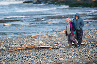 "Friday  29 April 2016<br /> Pictured: Members of the public look at the debris from the fishing vessel along the beach <br /> <br /> Re: Two fishermen who went missing after a boat sank in Pembrokeshire went overboard while lobster pots were being thrown into the sea.<br /> Gareth Willington, 59, from Carew, died after his boat The Harvester sank off St David's Head on 28 April.<br /> The body of his son, Daniel, 32, has never been found.<br /> Gareth Willington was not wearing a lifejacket when he was found, a report by the Marine Accident Investigation Branch said.<br /> The investigation found the pair were lobster fishing near Ramsay Island when Daniel Willington may have become entangled in ropes on the deck.<br /> His father may have tried to help him before both men went into the water ""in quick succession"", it said."