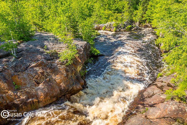 Saco Falls on the Pleasant River in Columbia Falls, Maine, USA