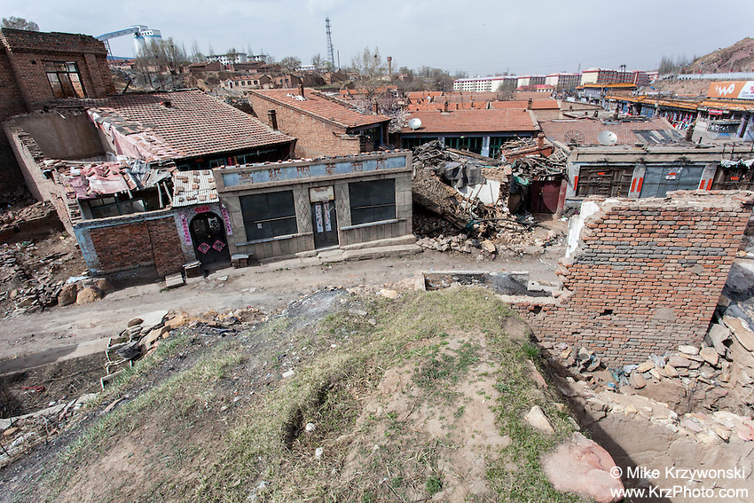 Building ruins in a village in the Shanxi Province of China