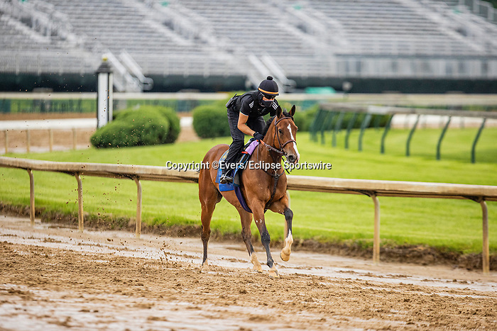 April 29, 2021: Gamine gallops at Churchill Downs in Louisville, Kentucky on April 29, 2021. EversEclipse Sportswire/CSM