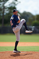 Atlanta Braves pitcher Jaret Hellinger (11) during an instructional league game against the Houston Astros on October 1, 2015 at the Osceola County Complex in Kissimmee, Florida.  (Mike Janes/Four Seam Images)
