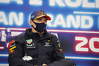 29th August 2021; Spa Francorchamps, Stavelot, Belgium: FIA F1 Grand Prix of Belgium,  race day: VERSTAPPEN Max (ned), Red Bull Racing Honda RB16B, portrait press conference After cancellation of the race due to standing water on track