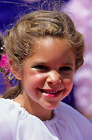 Portrait of a pretty small girl at a dance in Santa Barbera California, USA