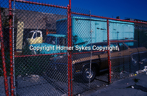 Coney Island New Jersey USA 1970s. . Parking lot.