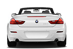Straight rear view of a 2010 BMW 6 Series 640i Convertible