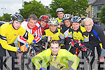 Currow Cycling club who hosted the RAS stage in Castleisland last Tuesday l-r:Darragh Looney, Pat O'Shea, Pat Daly, Tom Kenny, Pat Fleming, Eamon Breen, David Costello, Fred O'Dwyer, front: Mike Ahern..