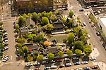 Aerial View of Lan Su Chinese Garden, Portland, Oregon