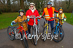 Enjoying a cycle in the Killarney National park on Saturday, l to r: Ezio, Michelle, Charles and Reul Santos