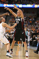 8 April 2008: Stanford Cardinal Jillian Harmon during Stanford's 64-48 loss against the Tennessee Lady Volunteers in the 2008 NCAA Division I Women's Basketball Final Four championship game at the St. Pete Times Forum Arena in Tampa Bay, FL.