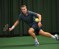 Rotterdam, The Netherlands, 07.03.2014. NOJK ,National Indoor Juniors Championships of 2014, 12and 16 years, Tom Moonenn (NED)<br /> Photo:Tennisimages/Henk Koster