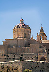 The dome of St. Paul's Co-Cathedral, Mdina, Malta