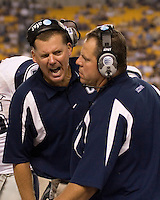 22 September 2007: Connecticut head coach Randy Edsall..The Connecticut Huskies defeated the Pitt Panthers 34-14 on September 22, 2007 at Heinz Field in Pittsburgh, Pennsylvania.