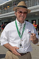 """HOMESTEAD, FL - NOVEMBER 18: (EXCLUSIVE COVERAGE) Jack Roush, is introduced before the NASCAR Sprint Cup Series Ford EcoBoost 400 at Homestead-Miami Speedway. Jack Roush (born April 19, 1942) is the founder, CEO, and co-owner of Roush Fenway Racing, a NASCAR team headquartered in Concord, North Carolina, and is Chairman of the Board of Roush Enterprises.<br /> Roush Enterprises is the parent company for Roush Racing as well as Roush Industries, a freelance engineering firm, and Roush Performance, an automotive aftermarket development company, both headquartered in Livonia, Michigan. His companies employ more than 2,000 people throughout North America and Europe. Rarely seen without his trademark Panama hat, Roush is known on the NASCAR circuit as """"The Cat in the Hat"""". Roush was inducted into the International Motorsports Hall of Fame on April 27, 2006.  on November 18, 2012 in Homestead, Florida.<br /> <br /> <br /> People:  Jack Roush"""