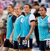 Nicole Barnhart, Lauren Holiday, Abby Wambach, Sydney Leroux, Yael Averbuch.  The USWNT defeated Brazil, 4-1, at an international friendly at the Florida Citrus Bowl in Orlando, FL.