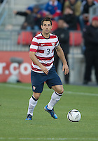 03 June 2012: US Men's National Soccer Team defender Carlos Bocanegra #3 in action during an international friendly  match between the United States Men's National Soccer Team and the Canadian Men's National Soccer Team at BMO Field in Toronto..The game ended in 0-0 draw...