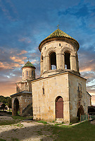 Pictures & images of Gelati Georgian Orthodox churches bell tower with  St Nicholas church, 13th century, behind. The medieval Gelati monastic complex near Kutaisi in the Imereti region of western Georgia (country). A UNESCO World Heritage Site.