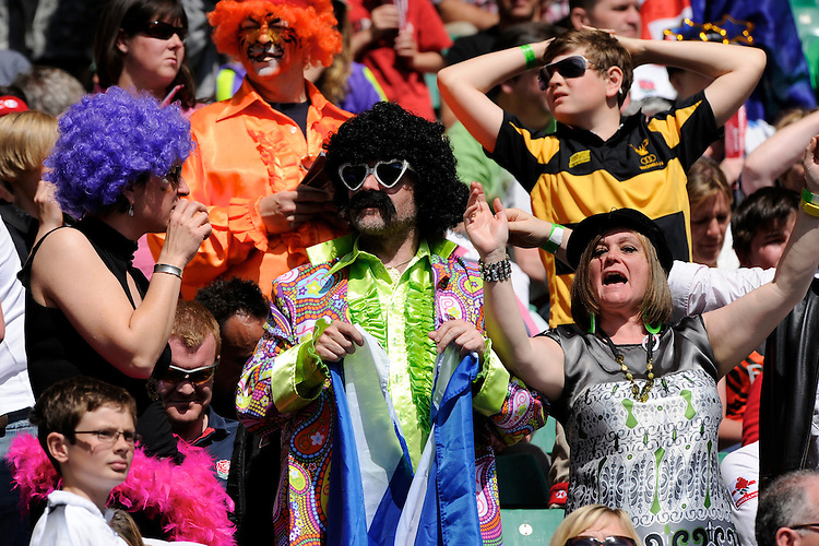 Fans enjoying the rugby and the sunshine during the iRB Marriott London Sevens at Twickenham on Sunday 13th May 2012 (Photo by Rob Munro)