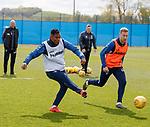 09.05.2019 Rangers training: Alfredo Morelos and Scott Arfield