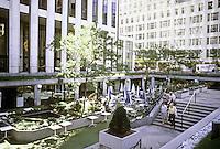 New York City: General Motors Building--Sunken Plaza 1968. Edward Durell Stone, Emory Roth & Sons.