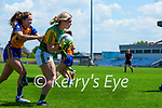Megan O'Connor, Kerry in action against Eimear Keane, Clare in the Lidl Ladies National Football League Division 2A Round 2 at Austin Stack Park, Tralee on Sunday.
