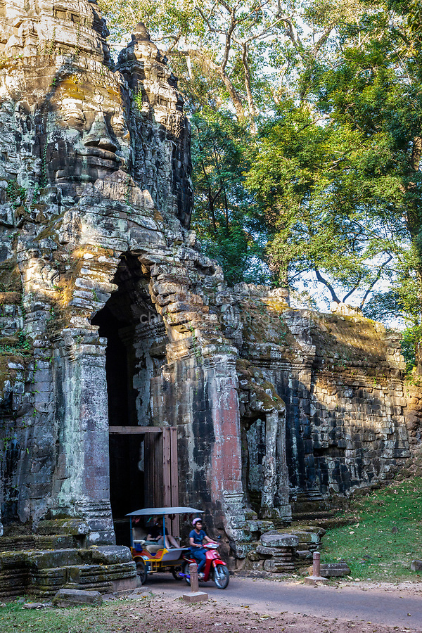 Cambodia.  North Gate, Angkor Thom.