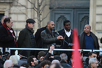 Dominique Sopo - Rassemblement 'Avec Theo et les autres victimes' et contre les violences policiËres, le 18 fÈvrier 2017, Place de la RÈpublique ‡ Paris.