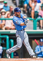 14 March 2016: Tampa Bay Rays outfielder Ryan Brett, ranked the 12th Top Prospect in the Rays organization for 2016 by MLB, in action during a pre-season Spring Training game against the Atlanta Braves at Champion Stadium in the ESPN Wide World of Sports Complex in Kissimmee, Florida. The Ray fell to the Braves 5-0 in Grapefruit League play. Mandatory Credit: Ed Wolfstein Photo *** RAW (NEF) Image File Available ***
