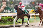 HAKODATE,JAPAN-AUG 8: Suave Aramis,ridden by Daisaku Matsuda,wins the Elm Stakes at Hakodate Racecourse on August 8,2021 in Hakodate,Hokkaido,Japan. Kaz Ishida/Eclipse Sportswire/CSM