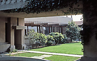 Frank Lloyd Wright, Architect. Hollyhock House, Hollywood, 1917.   Photo May 1982.