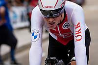 Stefan Küng (SUI/Groupama - FDJ) finishing<br /> <br /> Men Elite Individual Time Trial <br /> from Knokke-Heist to Bruges (43.3 km)<br /> <br /> UCI Road World Championships - Flanders Belgium 2021<br /> <br /> ©kramon