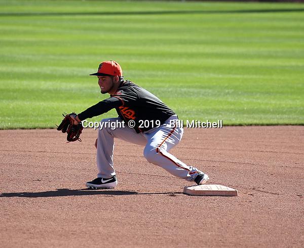 Breyvic Valera - San Francisco Giants 2019 spring training (Bill Mitchell)