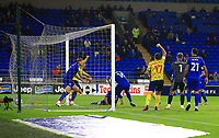 28th September 2021; Cardiff City Stadium, Cardiff, Wales;  EFL Championship football, Cardiff versus West Bromwich Albion; Curtis Nelson of Cardiff City own goal makes it 0-2 to West Bromwich Albion in the 56th minute