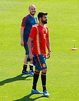 Spain's David Jimenez Silva (l) and Diego Costa during training session. June 5,2018.(ALTERPHOTOS/Acero) /NortePhoto.com NORTEPHOTOMEXICO