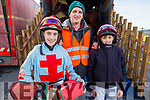 Tom O'Connor, Sean Bowen and Roy Tyner getting ready for the Ballyheigue Races on New Years Day.
