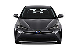 Car photography straight front view of a 2019 Toyota Prius LE 5 Door Hatchback Front View