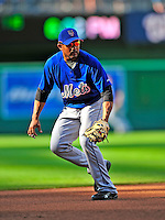 6 June 2009: New York Mets' infielder Fernando Tatis warms up at third base prior to a game against the Washington Nationals at Nationals Park in Washington, DC. The Mets fell to the Nationals 7-1 as Nats' starting pitcher John Lannan tossed his first career complete-game win. Mandatory Credit: Ed Wolfstein Photo