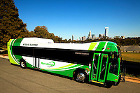 The Charlotte Area Transit System (CATS) is running the Sprinter service using five new hybrid-electric buses on the eight mile route between the airport to Uptown. The five new Sprinter hybrid-electric buses get approximately 50% better fuel economy than regular buses.