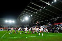 Dan Lydiate of Ospreys claims the lineout during the Guinness Pro14 Round 11 match between the Ospreys and Ulster Rugby at the Liberty Stadium in Swansea, Wales, UK. Saturday 15 February  2020