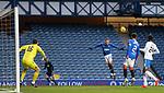 13.02.2021 Rangers v Kilmarnock: Ryan Kent heads into the danger area