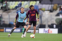 25th May 2021; Gdansk, Poland; Manchester United training at the Stadion Energa Gdańsk prior to their Europa League final versus Villarreal on May 26th;  NEMANJA MATIC EDINSON CAVANI
