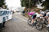 grupetto, including Peter Sagan (SVK/BORA - hansgrohe), up the final part of the Monte Zoncolan <br /> <br /> 104th Giro d'Italia 2021 (2.UWT)<br /> Stage 14 from Cittadella›Monte Zoncolan (205km)<br /> <br /> ©kramon