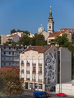 St. Michael, Blick von Brankova Brücke, Belgrad, Serbien, Europa<br /> St. Michael, view from Brankova Bridge, Belgrade, Serbia, Europe