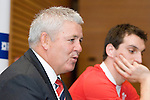 Wales Coach Warren Gatland at the official launch of the RBS Six Nations rugby tournament at the Hurlingham Club in London..