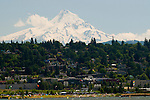 View of Mt. Hood and Hood River from Columbia River