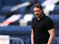2nd April 2021; Deepdale Stadium, Preston, Lancashire, England; English Football League Championship Football, Preston North End versus Norwich City; Norwich City manager Daniel Farke looks on from the touchline as his side hold a 0-1 lead