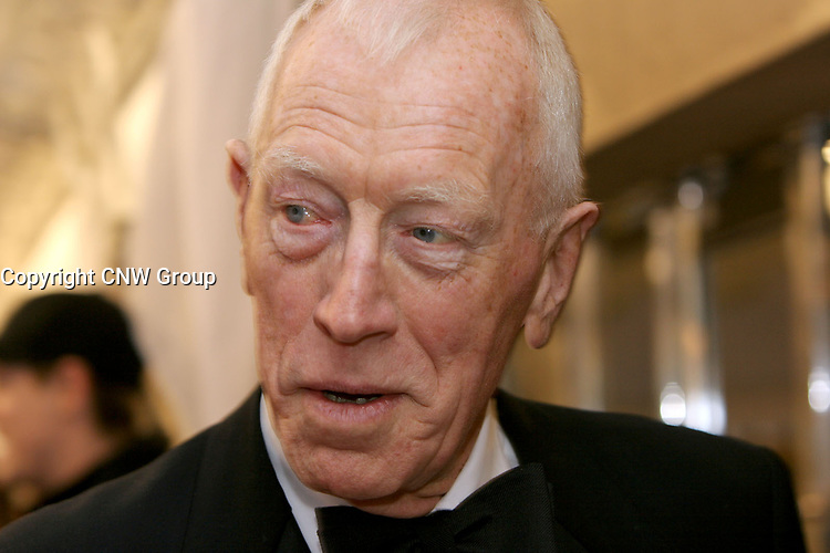 Max von Sydow on the red carpet at Roy Thompson Hall for the world premiere of Emotional Arithmetic, at the Toronto International Film Festival on September 15, 2007. (CNW Group/VISA Canada)