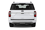 Straight rear view of 2020 Ford Expedition Limited-MAX 5 Door SUV Rear View  stock images