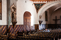Arizona Tucson Mission of Saint Xavier del Bac, spanish Catholic mission Interiors Interni