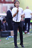 Filippo Inzaghi coach of SC Benevento gestures<br /> during the Serie A football match between SC Benevento and Bologna FC at stadio Ciro Vigorito in Benevento (Italy), October 04th, 2020. <br /> Photo Cesare Purini / Insidefoto