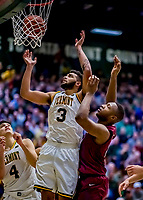 8 December 2018: University of Vermont Forward Anthony Lamb, a Junior from Toronto, Ontario, in second half action against the Harvard University Crimson at Patrick Gymnasium in Burlington, Vermont. Lamb scored a career-high 37 points, overcoming a 10-point 2nd half team deficit, leading the America East Catamounts over the Ivy League Crimson 71-65 in NCAA Division I inter-league play. Mandatory Credit: Ed Wolfstein Photo *** RAW (NEF) Image File Available ***